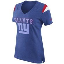 New York Giants Women's Fan V-Neck NFL T-Shirt