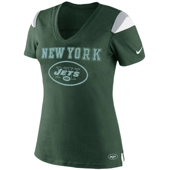 New York Jets Women's Fan V-Neck NFL T-Shirt