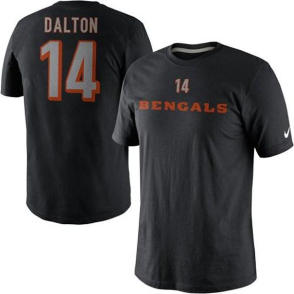 Cincinnati Bengals Andy Dalton NFL Name and Number T-Shirt