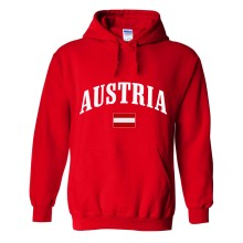 Austria MyCountry Pullover Arch Hoodie (Red)