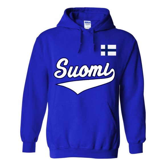 Finland MyCountry Pullover Script Hoody (Royal)