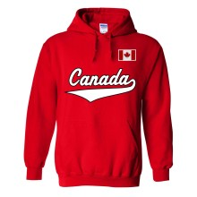 Canada MyCountry Pullover Script Hoodie (Red)