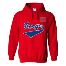 Norway MyCountry Pullover Script Hoodie (Red)