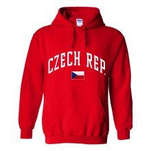 Czech Republic MyCountry Pullover Arch Hoody (Red)