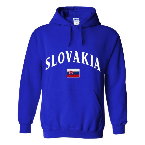 Slovakia MyCountry Pullover Arch Hoodie (Royal)