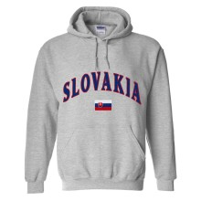 Slovakia MyCountry Pullover Arch Hoodie (Sport Gray)
