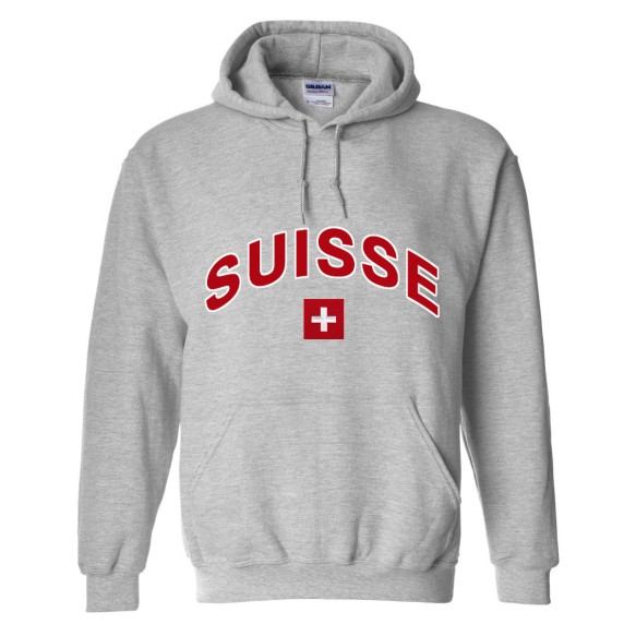 Switzerland MyCountry Pullover Arch Hoodie (Sport Gray)