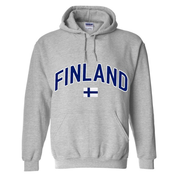 Finland MyCountry Pullover Arch Hoodie (Sport Gray)