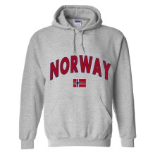 Norway MyCountry Pullover Arch Hoodie (Sport Gray)