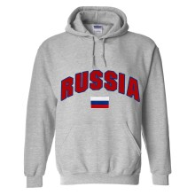 Russia MyCountry Pullover Arch Hoody (Sport Gray)