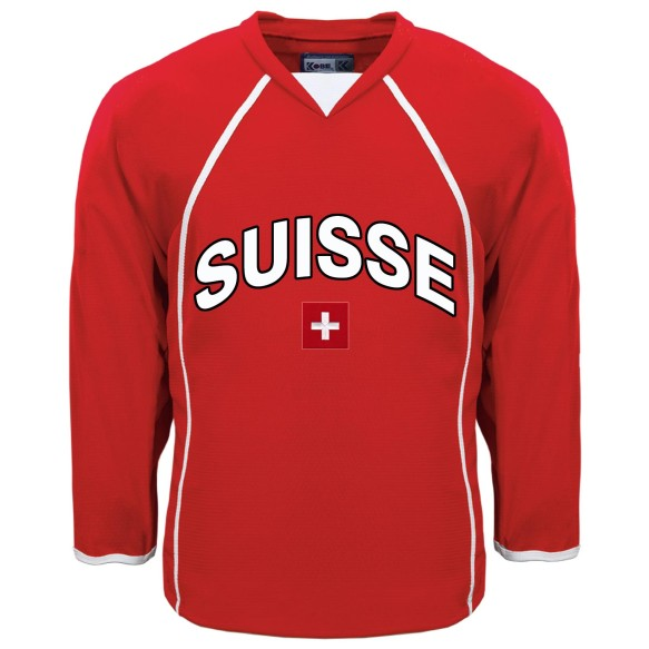 Switzerland MyCountry Fan Hockey Jersey