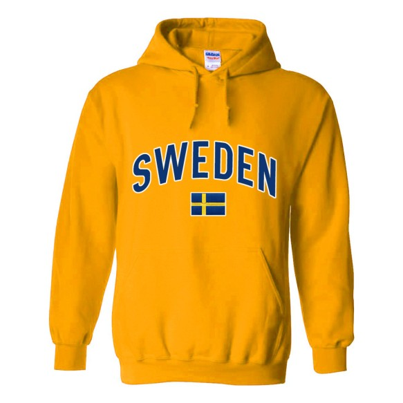 Sweden MyCountry Pullover Arch Hoodie (Gold)
