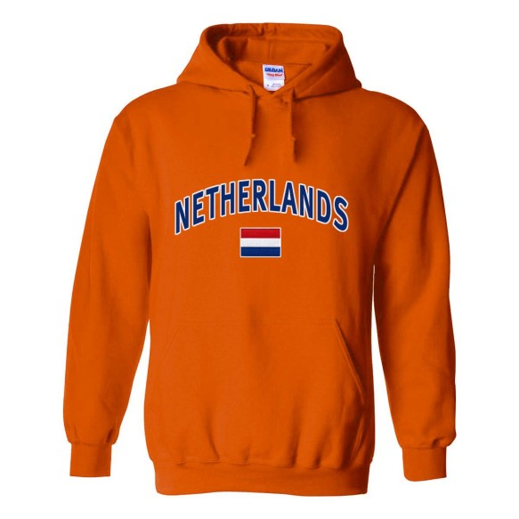 Netherlands MyCountry Pullover Arch Hoodie (Orange)