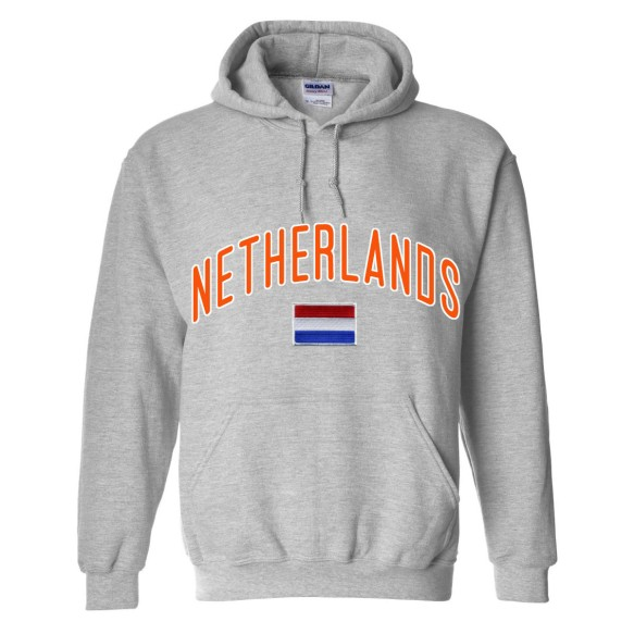 Netherlands MyCountry Pullover Arch Hoodie (Sport Gray)