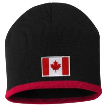 Canada MyCountry Striped Knit Hat (Black-Red)