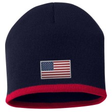 USA MyCountry Striped Knit Hat (Navy-Red)
