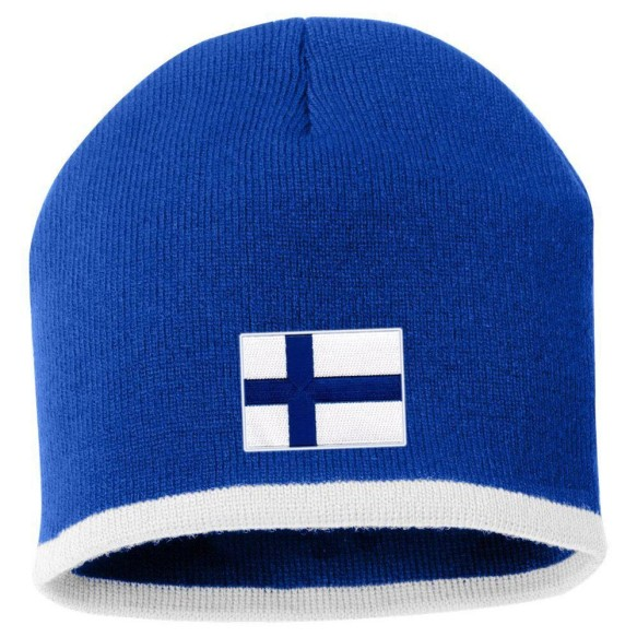 Finland MyCountry Striped Knit Hat (Royal-White)