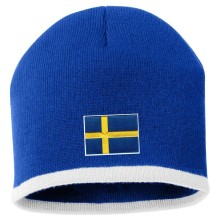 Sweden MyCountry Striped Knit Hat (Royal-White)