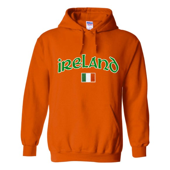 Ireland MyCountry Pullover Arch Hoodie (Orange)