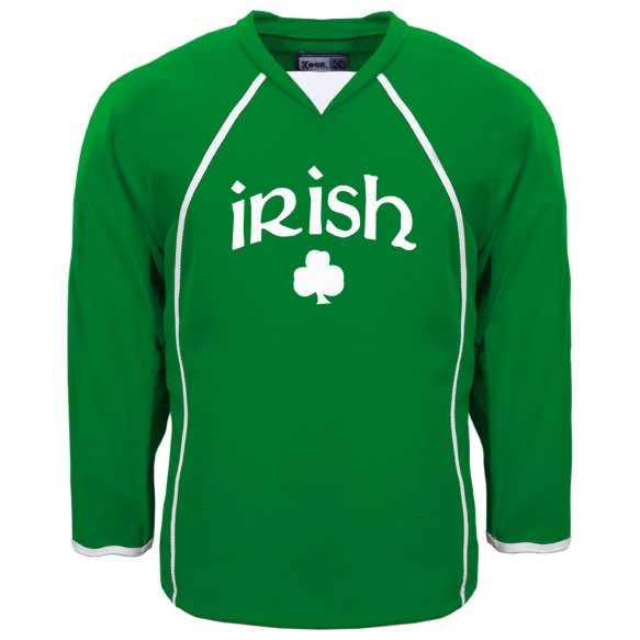 St. Patrick's Day Irish Pride Hockey Jersey (Kelly)