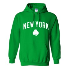 New York Irish Pride Pullover Hoodie (Kelly)