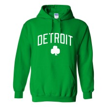Detroit Irish Pride Twill Pullover Hoodie (Kelly)
