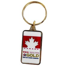 Team Canada 2014 Double Gold Champions Keychain
