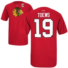 Chicago Blackhawks Jonathan Toews Reebok NHL Player Name & Number T-Shirt