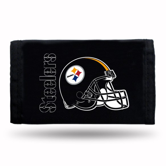 Pittsburgh Steelers Tri-Fold Nylon Wallet