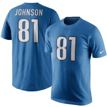 Detroit Lions Calvin Johnson NFL Player Pride Name and Number T-Shirt