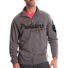 Nashville Predators Tried And True FX Full Zip Crew (Heather Charcoal)