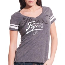Philadelphia Flyers Women's Double Take Script V FX T-Shirt