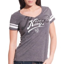 Los Angeles Kings Women's Double Take Script V FX T-Shirt