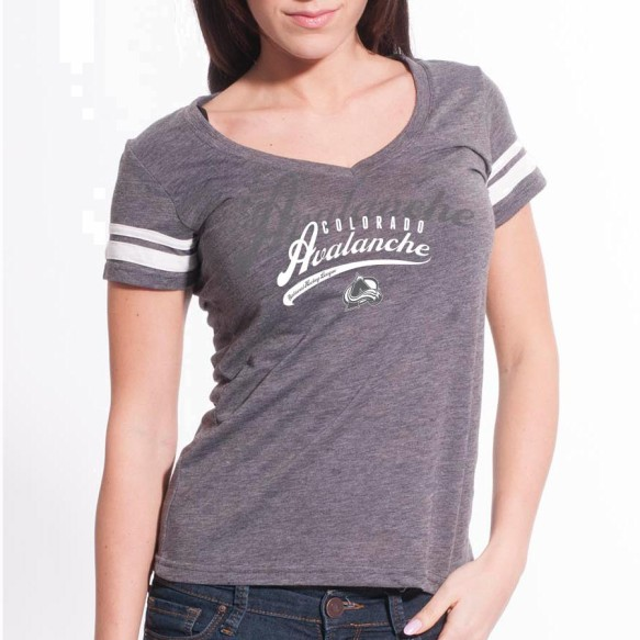 Colorado Avalanche Women's Double Take Script V FX T-Shirt