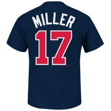 Atlanta Braves Shelby Miller MLB Player Name & Number T-Shirt (Navy)