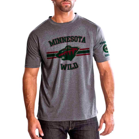Minnesota Wild Bar Stripe Performance FX T-Shirt (Heather Pepple)