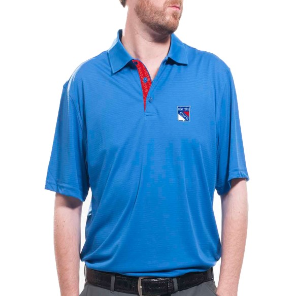 New York Rangers Shadow Text Evolve Polo