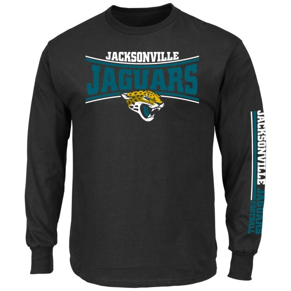 Jacksonville Jaguars NFL Primary Receiver Long Sleeve T-Shirt