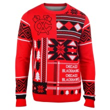 Chicago Blackhawks NHL 2015 Patches Ugly Crewneck Sweater
