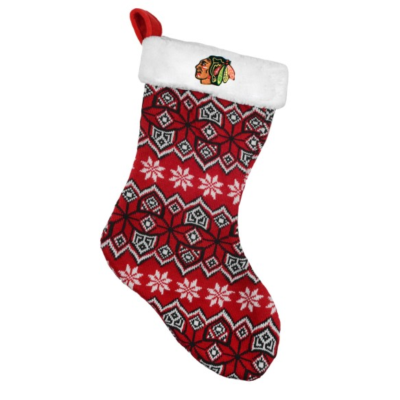 Chicago Blackhawks 17 inch Aztec Christmas Stocking