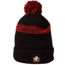 Team Canada IIHF Cuffed Pom Knit Hat (Black)