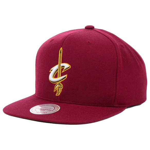 Cleveland Cavaliers Mitchell & Ness Current Logo NBA Wool Solid Snapback Cap | Adjustable