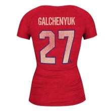 Montreal Canadiens Alex Galchenyuk Women's Retro Tri-Blend V-Neck T-Shirt