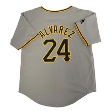 Pittsburgh Pirates Pedro Alvarez Majestic Child Road Replica Baseball Jersey