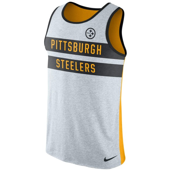 Pittsburgh Steelers NFL Nike Stripe Tri-Blend Tank Top
