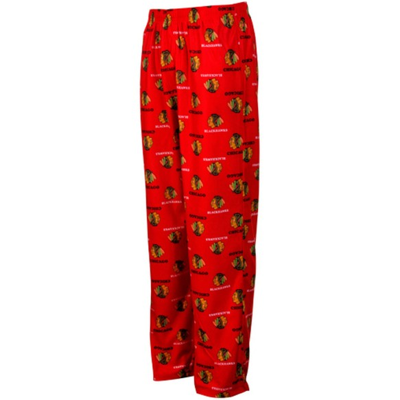 Chicago Blackhawks NHL Youth Flannel Sleeper Pants