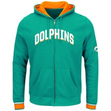 Miami Dolphins Anchor Point Full Zip NFL Hoodie