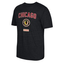 Chicago Blackhawks CCM Retro Stitches Tri-Blend T-Shirt