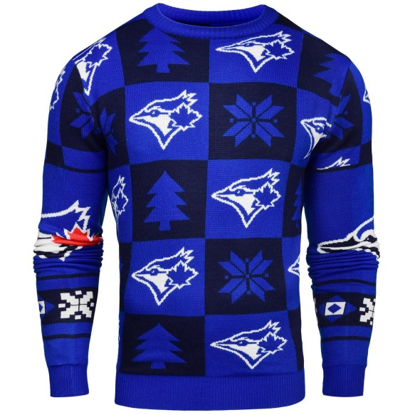 Toronto Blue Jays MLB Patches Ugly Crewneck Sweater