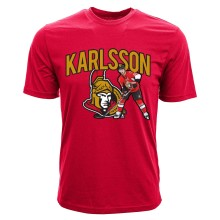 Ottawa Senators Erik Karlsson NHL Action Pop Applique T-Shirt